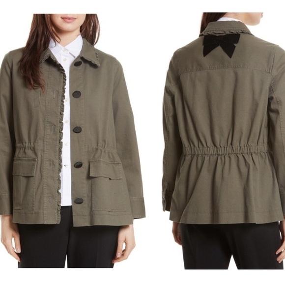 Kate Spade ♠️ Broome Street Ruffle Military Jacket
